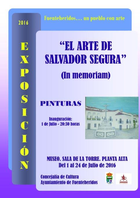 1 al 24 julio-Cartel El arte de Salvador..