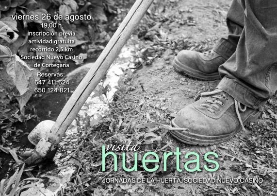 Cortegana abajo-Cartel visita huertas-26-8-16